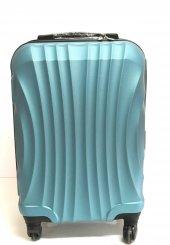 Gnza 4 Tekerlekli Kırılmaz Plastik Orta Boy Petrol Rengi Valiz