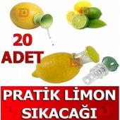 20 Adet Pratik Limon Sıkacağı Limon Sıkma Aparatı Yerli Plastik Ş