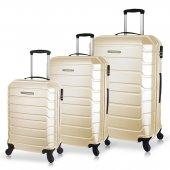 Ground Calanthe Abs Lux 3lü Bavul Valiz Seti (Kabin+orta+büyük)