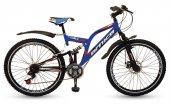 Arnica 2405d 24 Jant 21 Vites Çift Amortisörlü Bisiklet (Mavi)