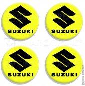 5 Cmlik Floresan Sarı Suzuki Logolu Takoz Damla Sticker 4 Adet S
