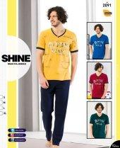 Shine 2091 Erkek Modal Kısa Kol Pijama 18y