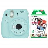 Fujifilm Instax Mini 9 Açık Mavi Fotoğraf Makinesi & 10lu Film