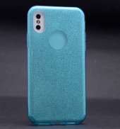 Apple İphone X Zore Shining Silikon Mavi
