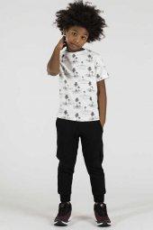 Tommy Life Palmiye Ağaç Baskılı Ekru Çocuk Tshirt