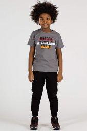 Tommy Life Yazı Baskılı Antrasit Çocuk Tshirt