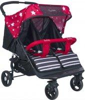 Pierre Cardin Pc 507 İvo İkiz Bebek Arabası Kırmızı