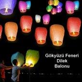 10 Adet Dilek Feneri Dilek Balonu Gökyüzü Feneri...