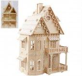 3d Büyük Ahşap Maket Gotik Ev 3d Yalı Maket Puzzle