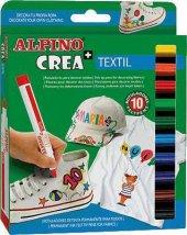 Alpino Ar 132 Crea+textil 10 Renk Kumaş Boya Kalemi