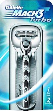 Gillette Mach3 Turbo Tıraş Makinesi (+1 Yedek Başl...