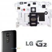 Lg G2 Kamera Camı (Lensi) Ve Ses Tuşu Full Beyaz...