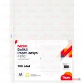 A4 Poşet Dosya Föy Şeffaf 100 Lü 1 Paket (Kalın...