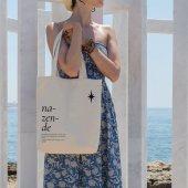 Angemiel Bag Nazende Alışveriş Plaj Bez Çanta
