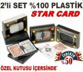 Starcard Plastik İskambil Oyun Kartı 2 Deste İskambil Kartı Takımı