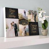 Evlilik Yıldönümüne Özel Fotoğraflı Kanvas Tablo
