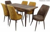 Hera Premıum Yemek Masa Takımı 6 Sandalyeli Kombinasyon