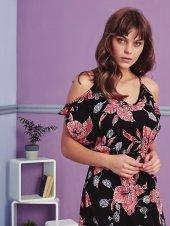çiçek Desen Detaylı Elbise Pijama Bb 1083