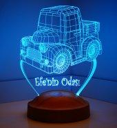 3d Led Lamba 3boyutlu Kamyon Truck Kişiye Özel Hediye Gecelambası