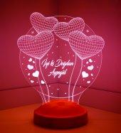 3d Led Lamba 3boyutlu Balon Kalpler Küre Kişiye Özel Hediye