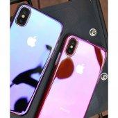 Iphone X Transparan Gökkuşağı Renk Değiştiren Kılıf