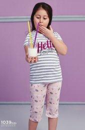 çizgili Desen Detaylı Takım Pijama Bb 1039k