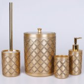 Selim Ethnic 4lü Banyo Seti Altın