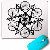 Bıcycle Cırcle Kaleidoscope Mountain Bisiklet Mouse Pad