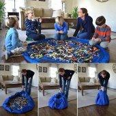 Oyun Halısı Oyuncak Sepeti Çocuk Oyuncak Saklama Kutusu