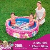 Bestway 93205 Barbie 3 Halka Şişme Havuz