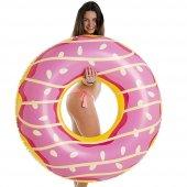 Jumbo Donut Kek 125cm Büyük Boy Simidi Pembe