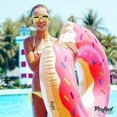 Bestway 36118 Donut Kek 107cm Simit Pembe