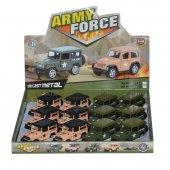 Oyuncak Askeri Jeep Metal Çek Bırak