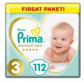 Prima Premium Care 3 Beden 112 Adet Bebek Bezi Kargo Ücretsiz