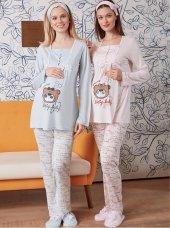 Lohusa Pijama Takımı Spor Uzun Kollu