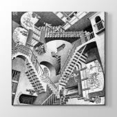 Mc Escher Relativity 1953 Tablosu 80 Cm X 80 Cm