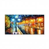 Led Işıklı Afremov Tarzı Sokak Tablosu 70 Cm X 140 Cm