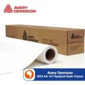 Avery Dennison Mpı 3023 Mat Beyaz Arkası Gri Dijit...
