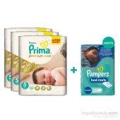 Prima Bebek Bezi Premium Care Mega 3lü Paket 5 Beden 138 Adet