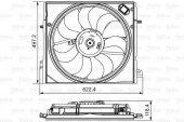 Fan Motoru Qashqai 14 Dci X Trail 14 Komple (Valeo)