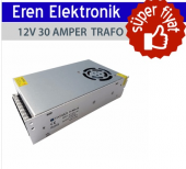 T Power 12 Wolt 30 Amper Adaptör S 360 12