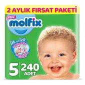 Molfix Bebek Bezi 5 Beden Junior 2 Aylık Fırsat Pa...