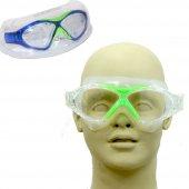 Bermuda 8170 Yüzücü Gözlüğü Silikon Mavi Yeşil