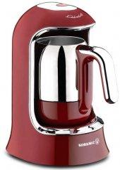 Korkmaz Kahvekolik Otomatik Kahve Makinesi A860 03 Kırmızı Renk
