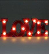 Love Tasarımlı Masa Ve Gece Lambası
