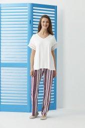 Dagi Kadın Pijama Takımı Ekru Esk0219y0028ek