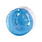 Palex 3442 1 Mini Pratik Tuvalet Kağıdı Dispenseri Şeffaf Mavi