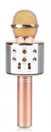 Ws 858 Karaoke Bluetooth Mikrofon Ve Taşınabilir Hoparlör Rose Go