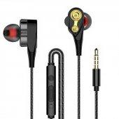 Yüksek Bas Çift Mekanizmalı Stereo Mikrofonlu Kablolu Kulaklık Si