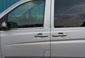 Mercedes Vıto W639 2003 2014 Krom Kapı Kolu 3lü Paslanmaz Çelik